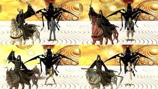 Shin Megami Tensei Devil Summoner 2 Raidou Kuzunoha vs King Abaddon Boss White,Red,Black&Pale Rider
