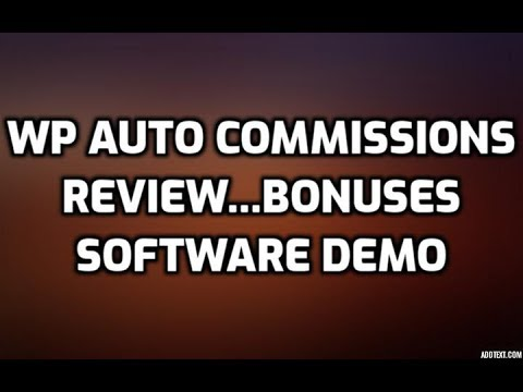 WP Auto Commissions Review Bonuses Members Area Software Demo & All OTO Info. http://bit.ly/2Zu27Ph