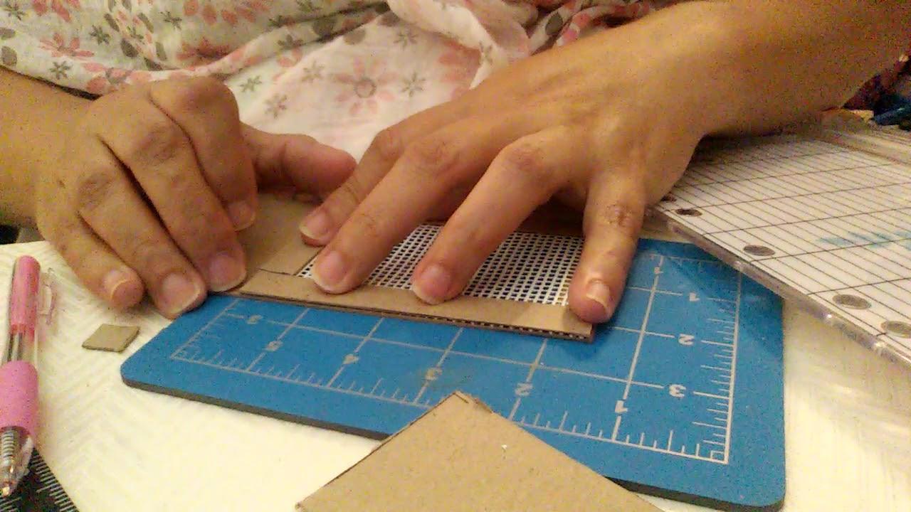 Dollhouse Miniature Diy Cardboard Front Screen Door Part 1 Youtube