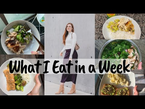 WHAT I EAT IN A WEEK   Healthy, Favorite Snacks, Cheat Meals thumbnail