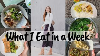 WHAT I EAT IN A WEEK | Healthy, Favorite Snacks, Cheat Meals