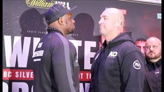 HEAVYWEIGHTS COLLIDE! - DILLIAN WHYTE v LUCAS BROWNE - HEAD TO HEAD @ FINAL PRESS CONFERENCE