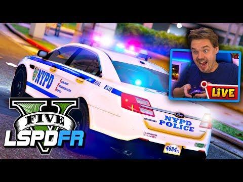 "GTA 5 LSPDFR CITY PATROL LIVE ""NYPD"" New York City | GTA V LSPDFR Police Mod Realistic Patrol"
