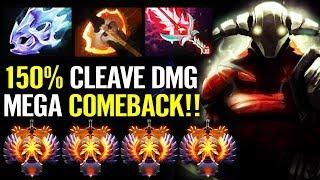 WTF 150% Cleave NEW RAIDBOSS Mega Comeback [Sven] 8000 MMR 7.21 META Epic Gameplay