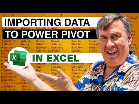 PowerPivot Data Analyst 2 - Importing Data To PowerPivot