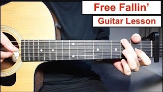 John Mayer - Free Fallin' | Guitar Lesson (Tutorial) How to play Fingerpicking Lesson