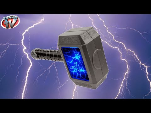 Thor The Dark World: Motion-Activated Lightning Strike Hammer Toy Review, Hasbro