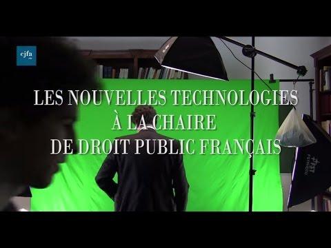 La Chaire de droit public français (LFOER) et les nouvelles technologies (CJFA 2015)