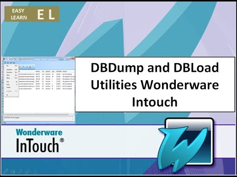 DBDump and DBLoad Utilities Wonderware Intouch