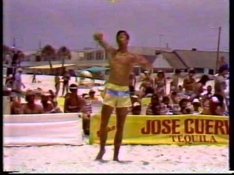 1985 Clearwater Open Jose Cuervo Beach Volleyball Smith Stoklos vs Dodd Kiraly