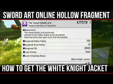 How To Obtain The White Knight Jacket In SAO: Hollow