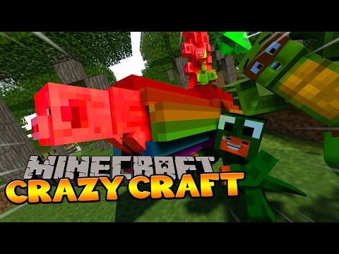 little lizard crazy craft minecraft crazycraft 3 lizard and his nyan pig 3 4874