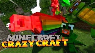 Minecraft - CRAZYCRAFT 3 - LITTLE LIZARD AND HIS NYAN PIG! #3