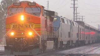 BNSF Rescues Amtrak Southwest Chief & MORE !!! January 10th, 2015