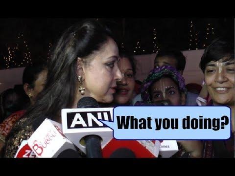 Hema Malini Angry On Female Fan - Watch Video