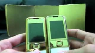 Nokia 8800 Arte Gold. Китайская и финская копия.(Видео обзор копий Nokia 8800 Arte Gold. Представлены копии высокого уровня на плате от Nokia и копии более дешевые...., 2012-08-28T07:33:51.000Z)