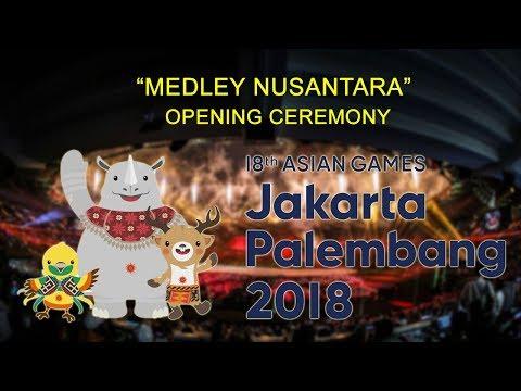 Cover Lagu Opening Ceremony Asian Games 2018 - Medley Lagu Nusantara STAFABAND