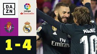 Doppelpacker Karim Benzema erlöst Real: Real Valladolid - Real Madrid 1:4 | La Liga | DAZN Highlight