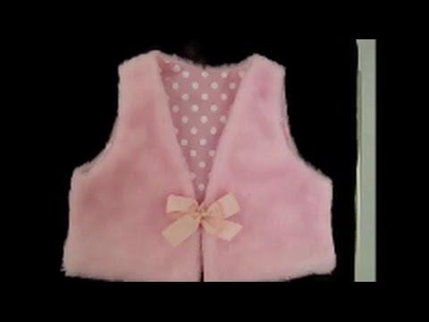 feaada0717edb Como fazer um colete infantil com molde de 1 a 6 anos - YouTube