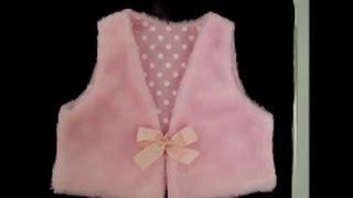 Como fazer um colete infantil com molde de 1 a 6 anos