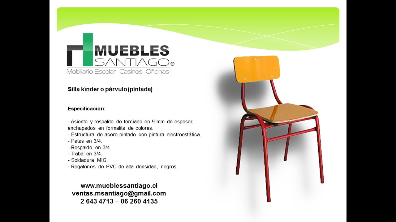 Silla k nder o p rvulo pintada sillas para jardines for Muebles santiago aranjuez