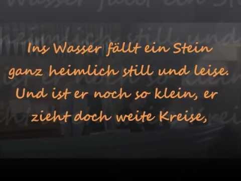 ins wasser fällt ein stein [lyrics] - muttertag 2012
