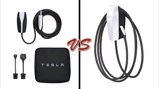 Tesla Mobile vs Wall Connector