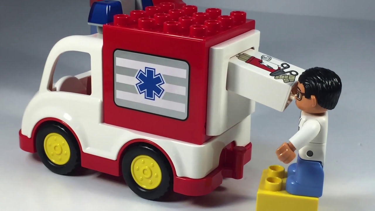 Lego Duplo 10527 Ambulance From 2014 Animation And Unboxing Youtube