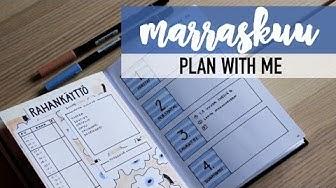 MARRASKUU- Marimekko | bullet journal 2018