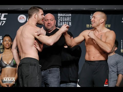 UFC 217: Michael Bisping vs. Georges St-Pierre Staredown - MMA Fighting