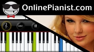 Taylor Swift - Teardrops On My Guitar - Piano Tutorial