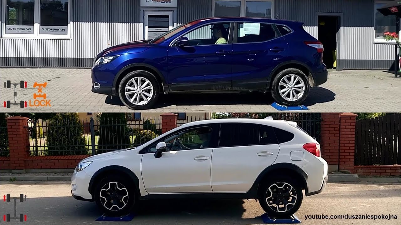 subaru xv crosstrek s awd vs nissan qashqai all mode 4x4 i. Black Bedroom Furniture Sets. Home Design Ideas