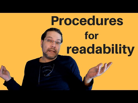 Better VBA 9 - Improve Code Readability with Procedures