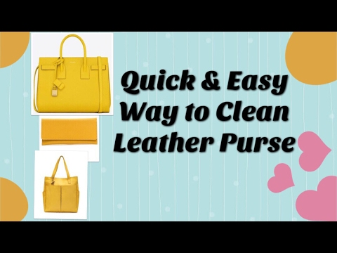 How To Clean Leather Bag At Home ल धर