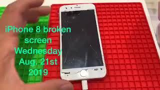 iPhone 8 broken screen repair assessment