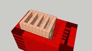Masonry stove model - soba clopot