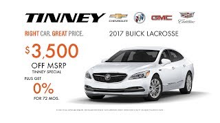 2017 Buick LaCrosse and 2017 Buick Enclave Prices and Deals | Tinney Automotive