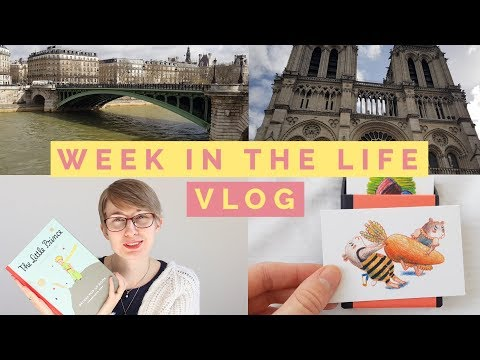 Paris Vlog, public speaking, little prince shop and my business cards for bologna - week in the life