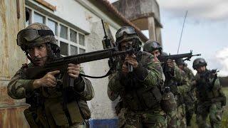 Portuguese Marines Corps (Corpo de Fuzileiros Navais) & US Marines Assault on Enemy Compound
