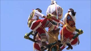 Los Voladores de Papantla en Cholula Puebla.
