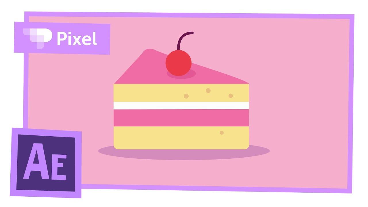 Анимируем торт в After Effects | уроки для новичков