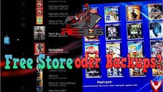 Free Store oder Backups? Was ist besser für Rebug CFW 4.82 | Rheloads