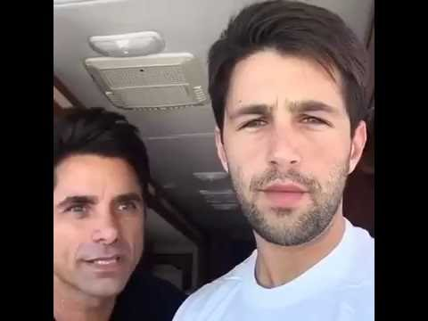 John Stamos' Post Facebook Live with Josh Peck