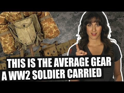 This is the average gear a WW2 soldier carried - YouTube