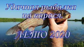 Удачная рыбалка на карася. Лето–2020.