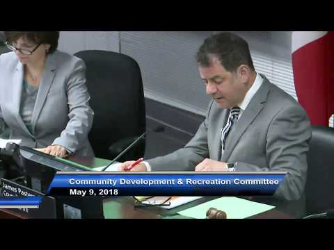 Community Development and Recreation Committee - May 9, 2018