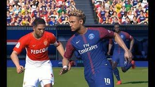 [PC] Neymar vs AS Monaco - Gameplay Nouveaux Maillots 2018 PES 2017