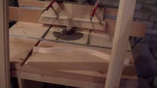 Изготовление рам (выборка четверти на криволинейном штапике)(В этом видео я выбираю четверть на криволинейном штапике,при помощи ручного фрезера установленного в стол., 2015-03-23T12:55:46.000Z)