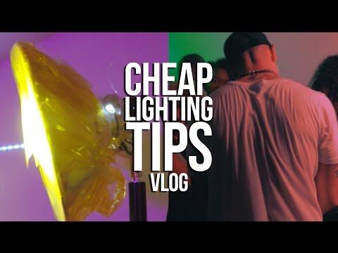 Cheap Music Video Lighting Tips (Vlog)