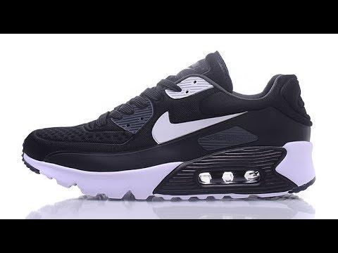 55460660 Nike Air Max 90 Ultra SE Premium Black & White - YouTube
